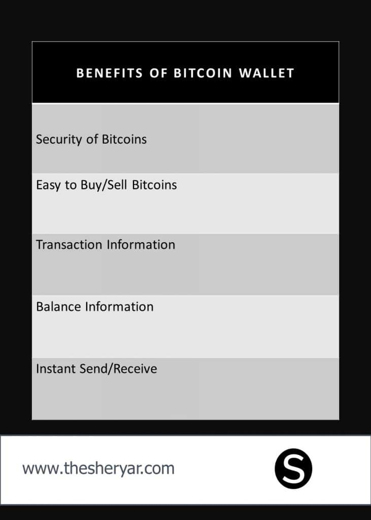 Info graphic Showing Benefits of Bitcoin in Text